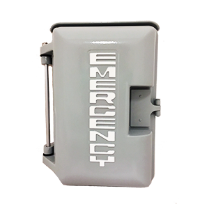 331-005-G-EMER Gray Weatherproof Housing EMERGENCY
