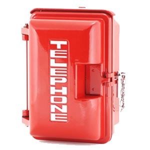 331-005-R-TEL: Red Weatherproof Housing